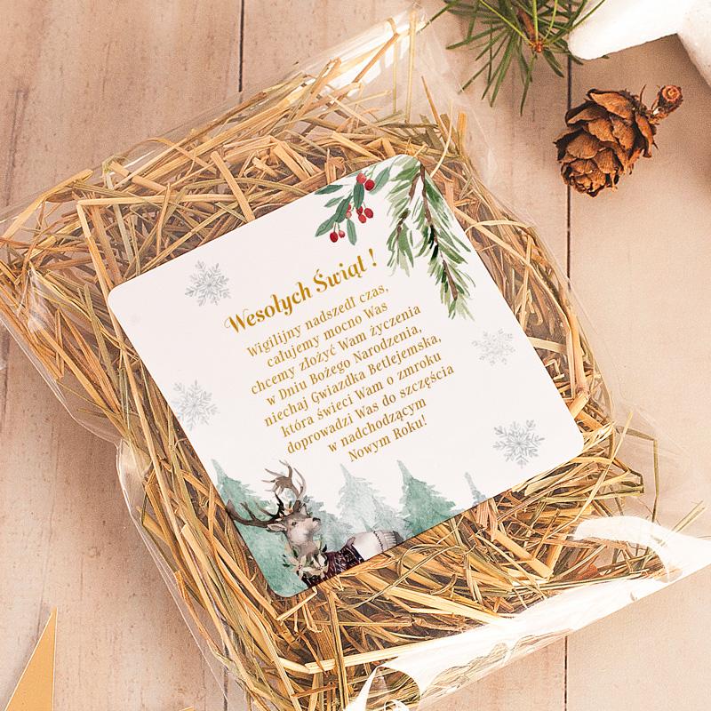 Zdjęcie w galerii - SIANKO Wigilijne + Opakowanie Z Życzeniami Magia Świąt
