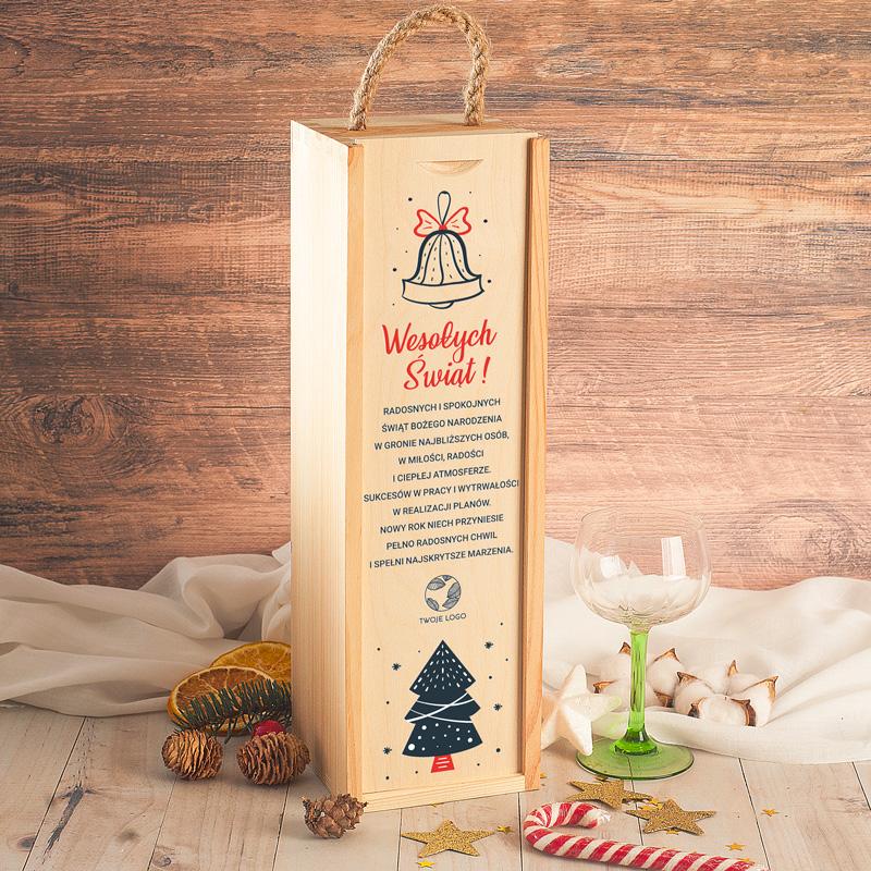 Drewniana skrzynia na alkohol to wyjątkowy prezent na Święta Bożego Narodzenia.