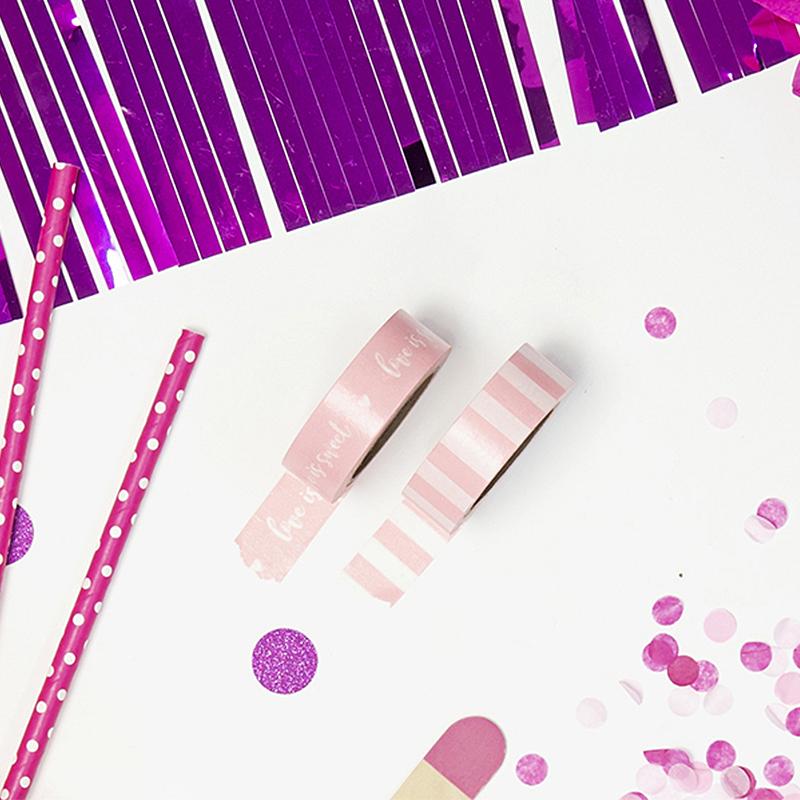 Zdjęcie w galerii - Taśma Dekoracyjna Różowy Mix 4szt