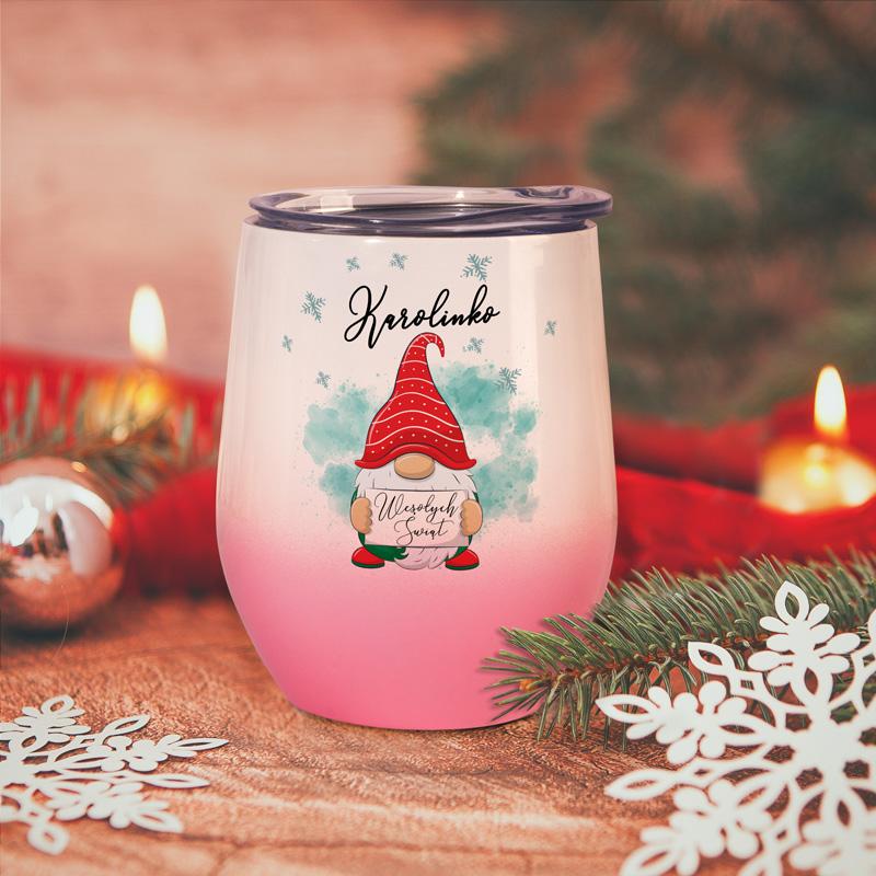 Termokubek świąteczny z piękną grafiką. Idealny prezent na Święta Bożego Narodzenia.