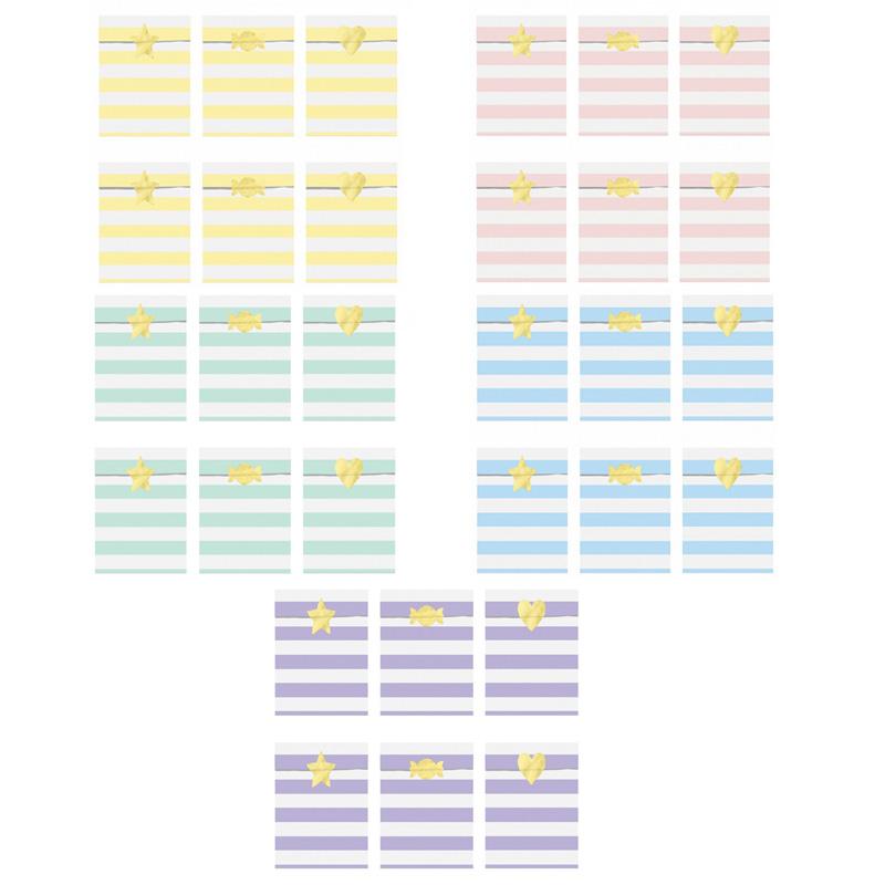 Zdjęcie slidera - TOREBKI papierowe na upominki w paski 6szt + naklejki