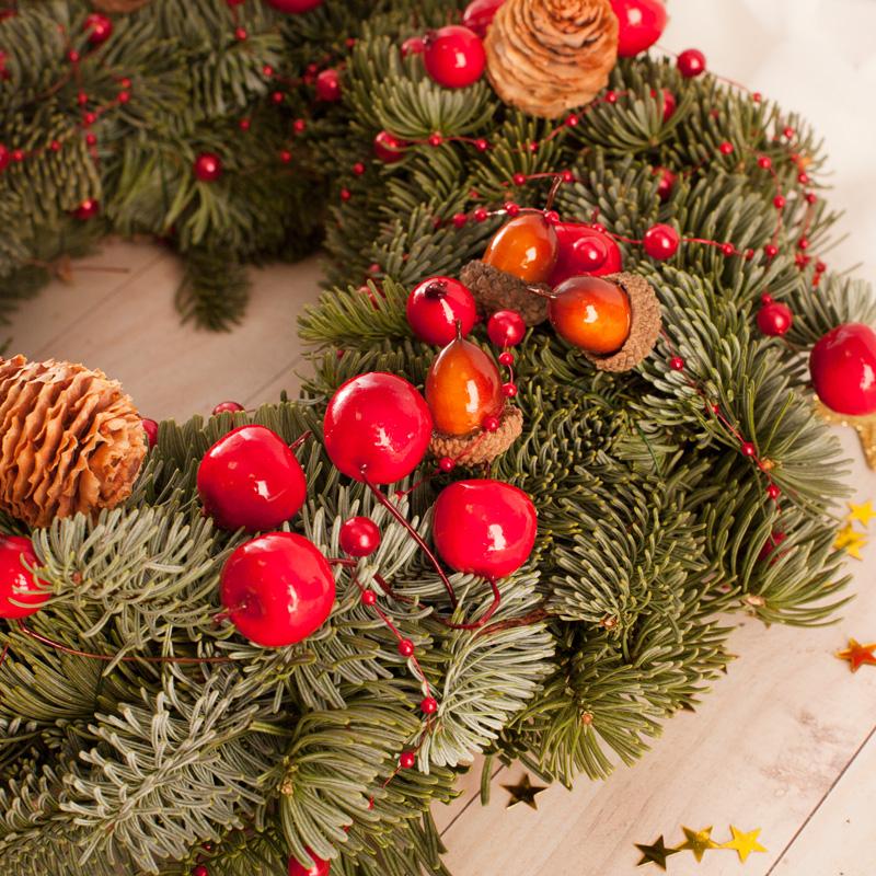 Zdjęcie w galerii - STROIK na Boże Narodzenie Żywa Jodła z Bilecikiem PREZENT