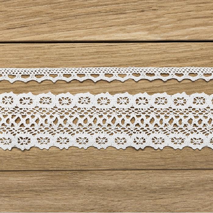 Zdjęcie w galerii - KORONKI dekoracyjne bawełniane, 2szt 3m