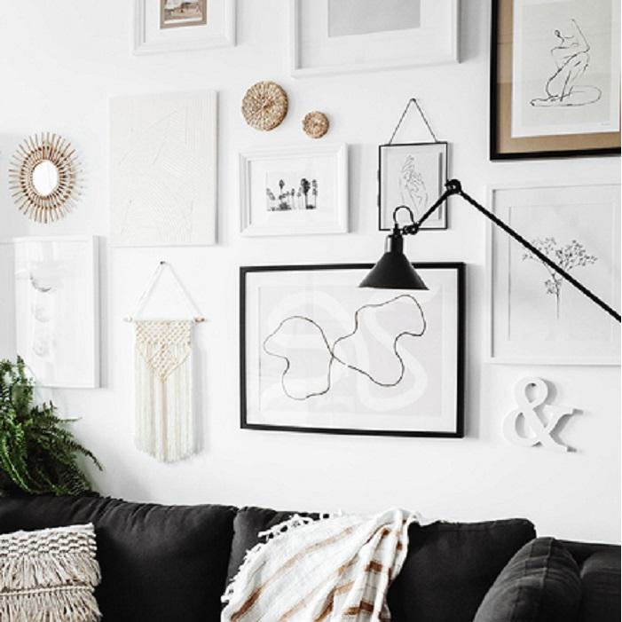 Zdjęcie w galerii - Makrama w kolorze złamanej bieli, 30x49cm