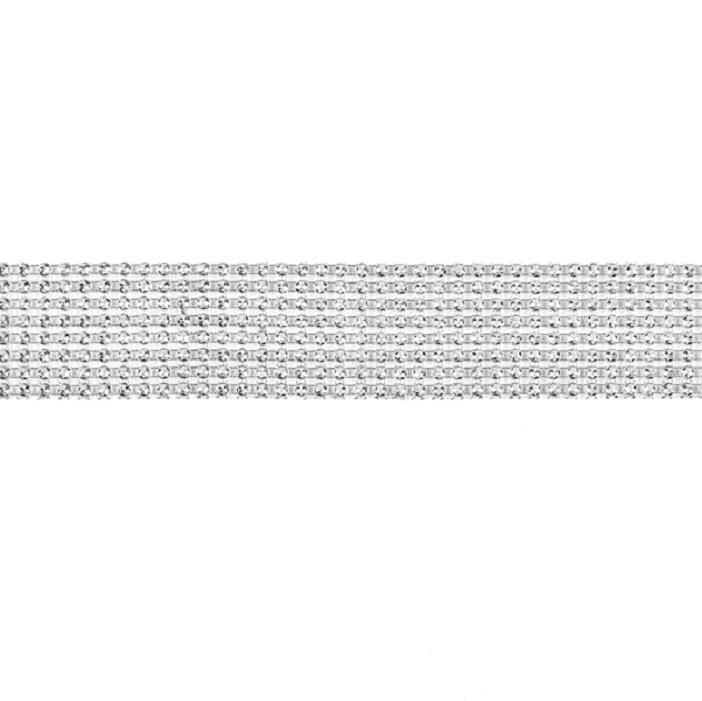 Zdjęcie w galerii - TAŚMA dekoracyjna srebrne diamenty, 3cmx2,3m