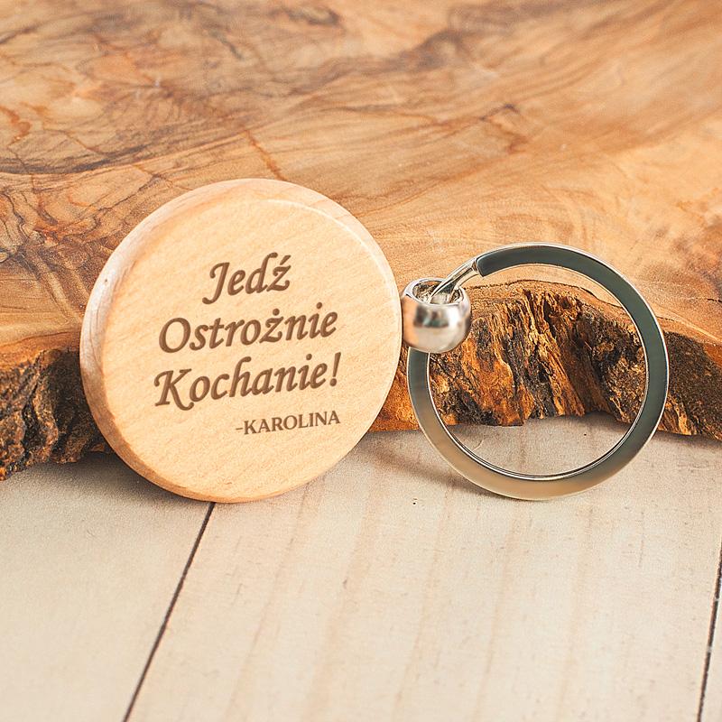 Zdjęcie w galerii - BRELOK Okrągły Drewniany Dla Ukochanej Osoby