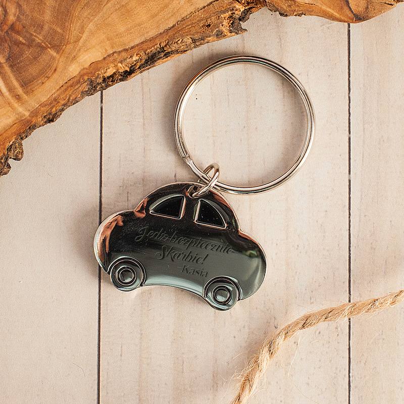 Zdjęcie w galerii - BRELOK Metalowy Auto Jedź Bezpiecznie