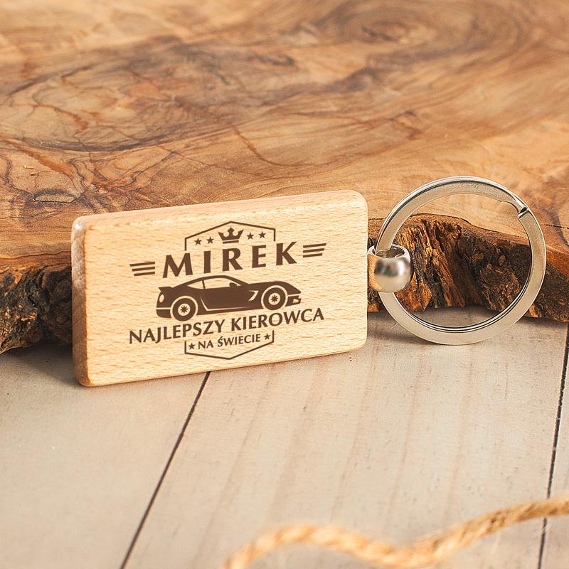 Zdjęcie w galerii - BRELOK Prostokątny Drewniany Najlepszy Kierowca Na Świecie