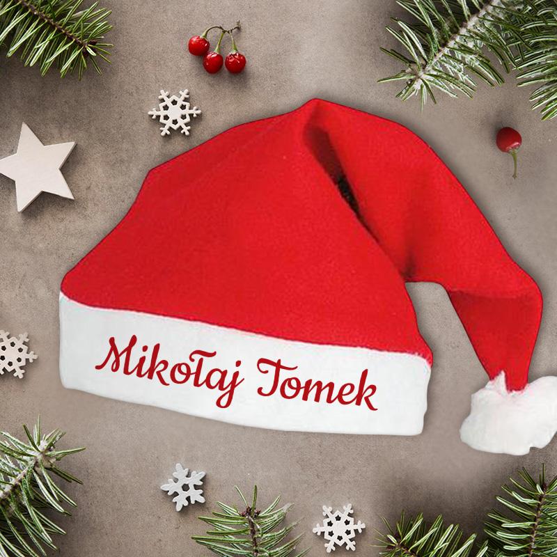 Zdjęcie w galerii - CZAPKA Mikołaja z Twoim Napisem Świąteczny HIT