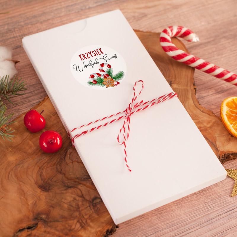 Zdjęcie w galerii - CZEKOLADOWNIK świąteczny z Imienną Etykietą i Sznureczkiem