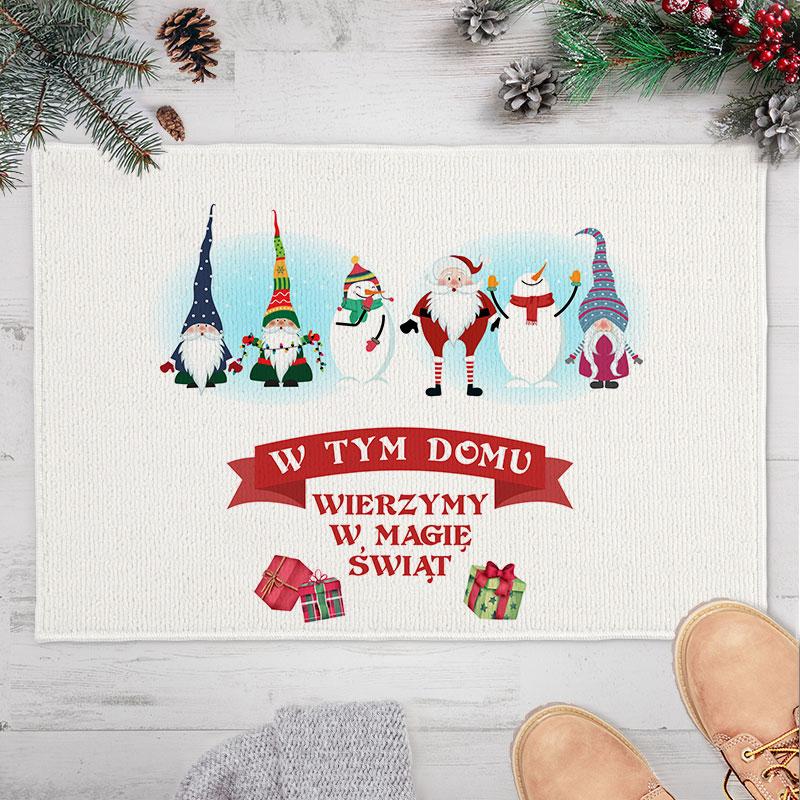 Wycieraczka, dywanik piękna dekoracja świąteczna.