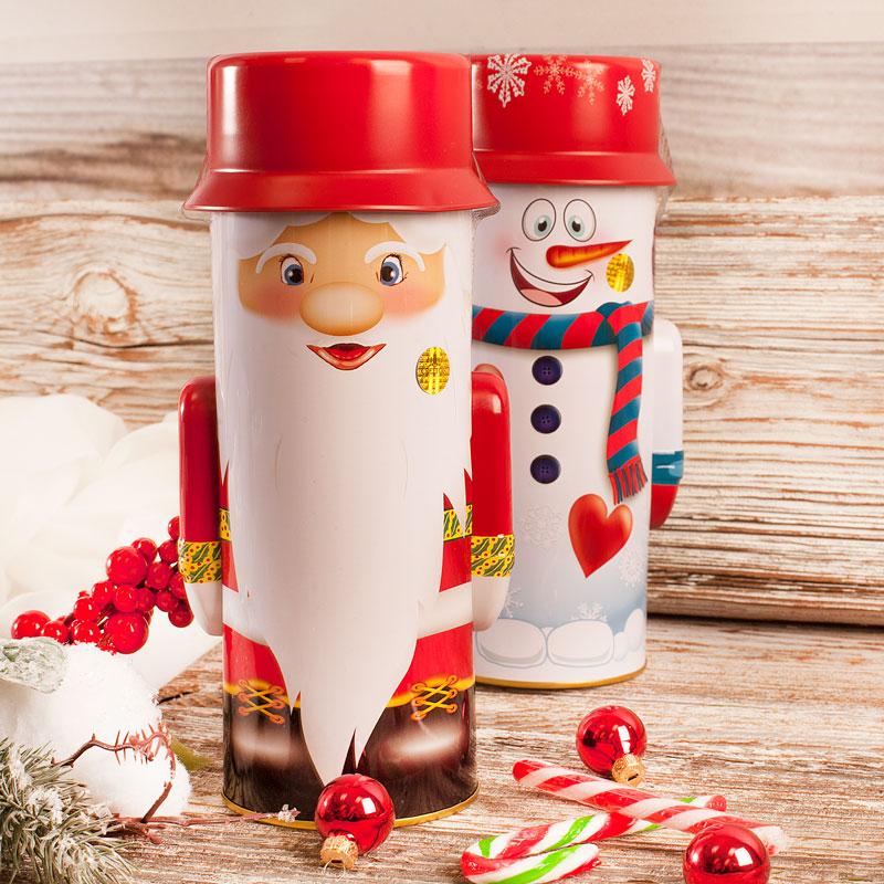 Herbata w puszcze ze świątecznym motywem. Idealny upominek na Mikołajki i Święta Bożego Narodzenia.