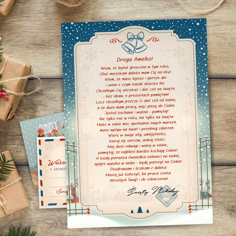 Zdjęcie w galerii - LIST od św. Mikołaja Do Dziecka PERSONALIZOWANY +koperta