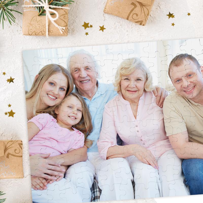 Zdjęcie w galerii - PUZZLE ze Zdjęciem Prezent Świąteczny dla Bliskiej Osoby 120 elementów