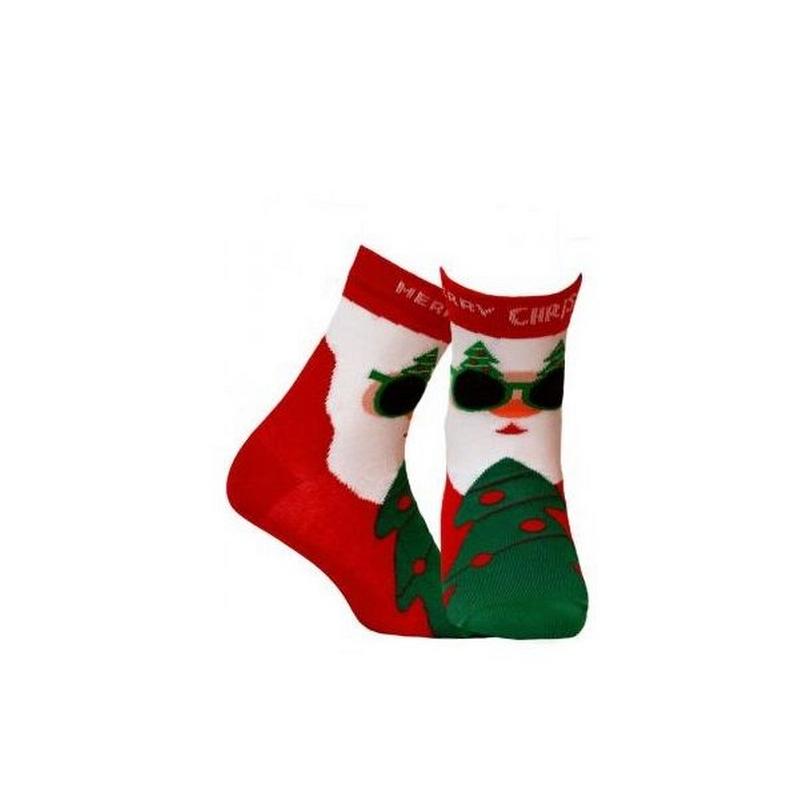 Skarpetki ze świątecznym motywem św. Mikołaja