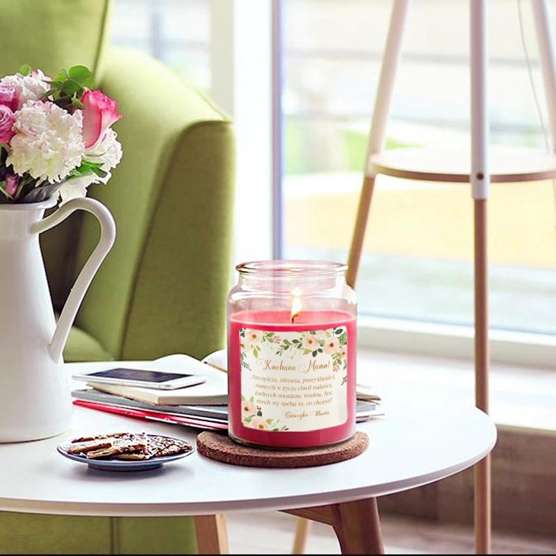 Zdjęcie w galerii - ŚWIECA zapachowa w szkle Prezent dla Mamy Kwiaty