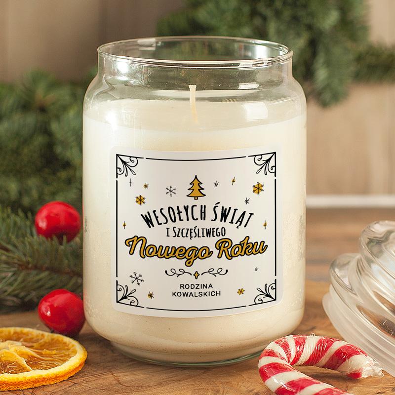 Zdjęcie w galerii - ŚWIECA zapachowa w szkle Prezent Świąteczny Wesołych Świąt