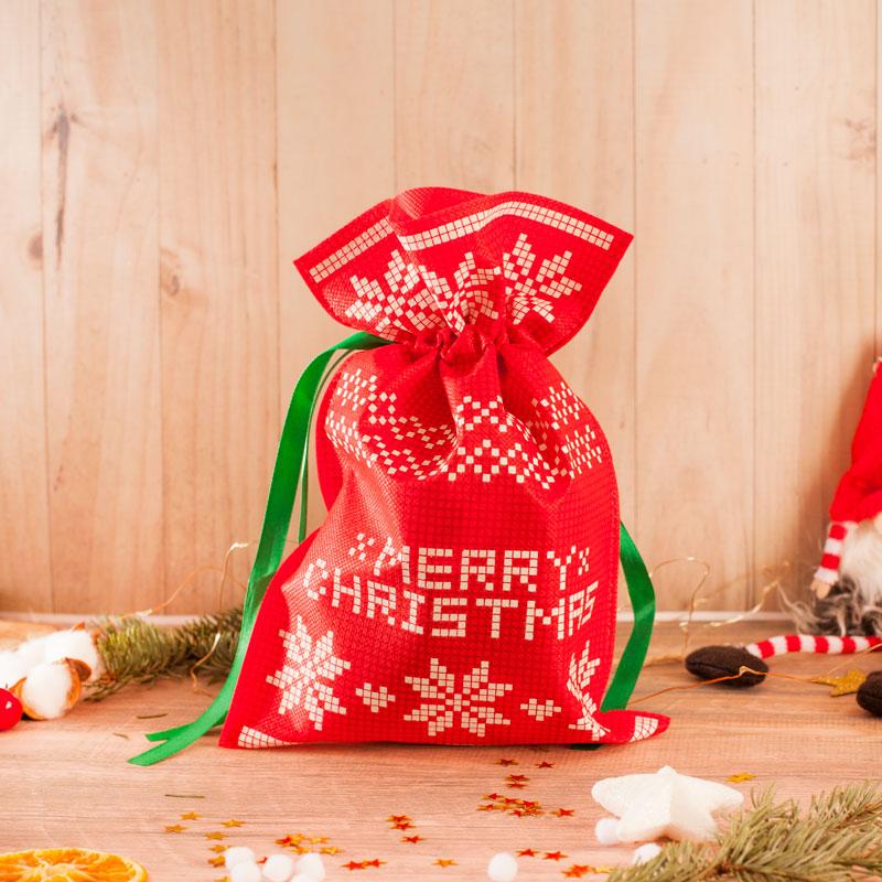 Zdjęcie w galerii - WOREK na Prezent Świąteczny Merry Christmas Różne Wymiary