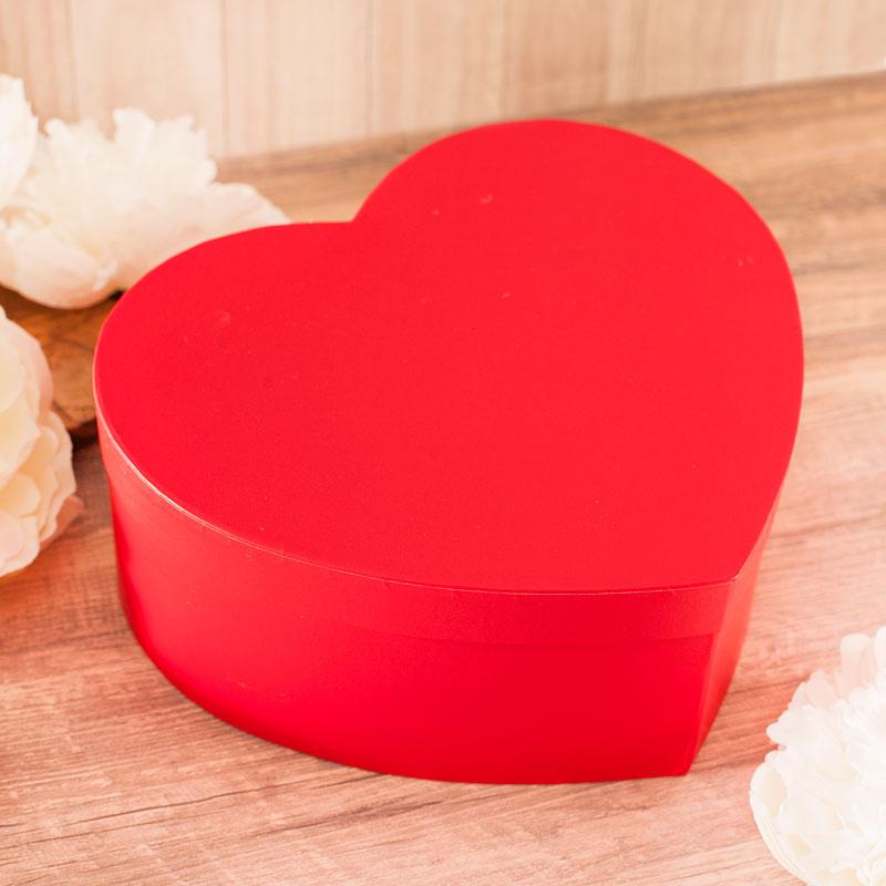 Czerwone serce pudełko na prezent dla babci