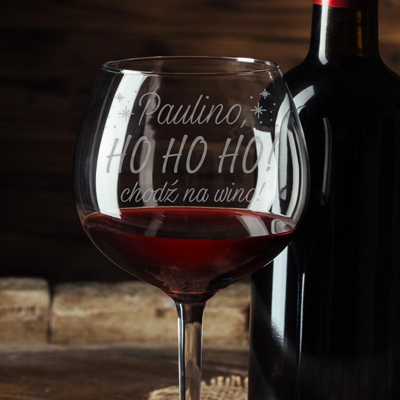 Zdjęcie w galerii - KIELISZEK do Wina HOHOHO Chodź na Wino GRAWEROWANY