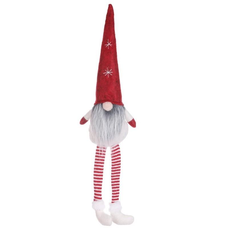 Pluszak świąteczny skrzat z długimi nogami, które wiszą, można posadzić skrzata.