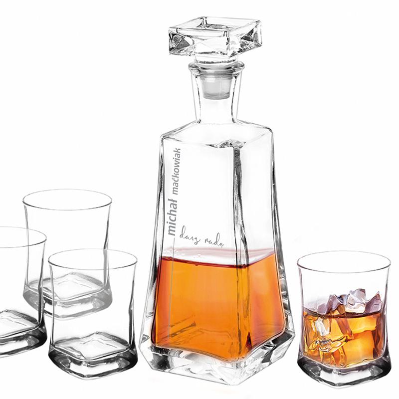 Zdjęcie w galerii - ZESTAW do Whisky Karafka i 4 Szklanki Dasz Radę