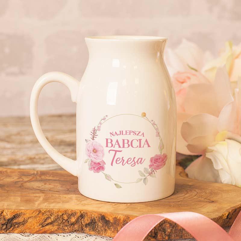 Zdjęcie w galerii - KUBEK w kształcie bańki na mleko Ze zdjęciem i Dedykacją dla BABCI