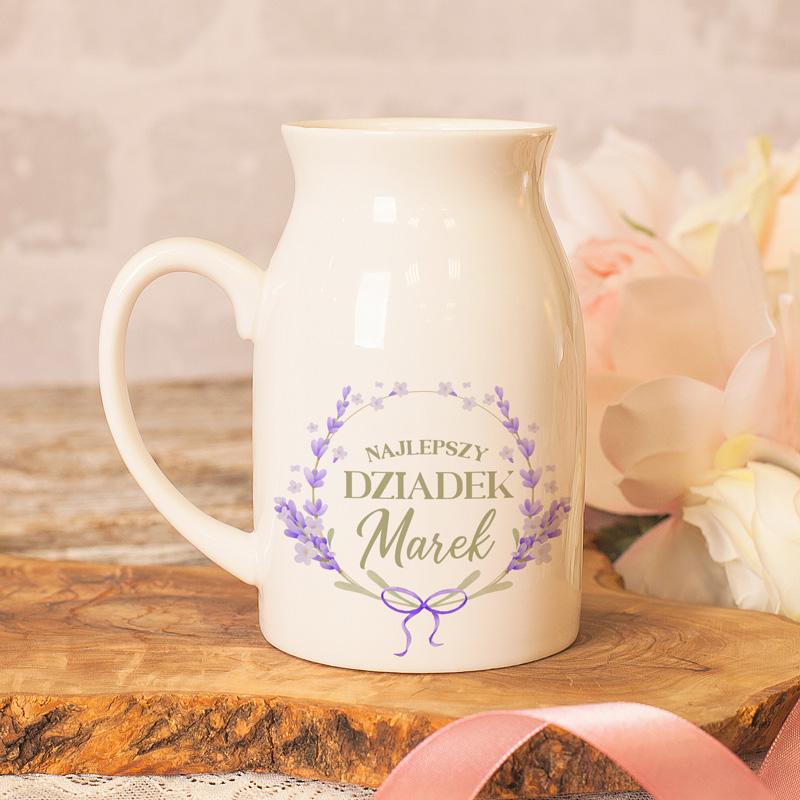 Zdjęcie w galerii - KUBEK w kształcie bańki na mleko ze Zdjęciem i Dedykacją dla DZIADKA
