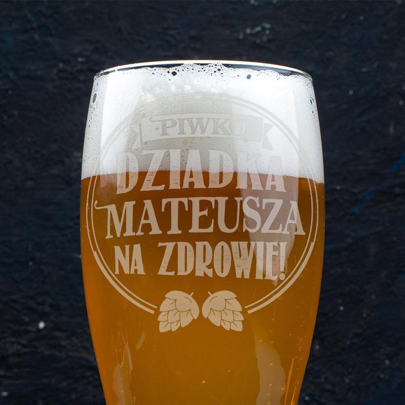 Zdjęcie w galerii - SZKLANKA do Piwa Na Zdrowie Dziadka