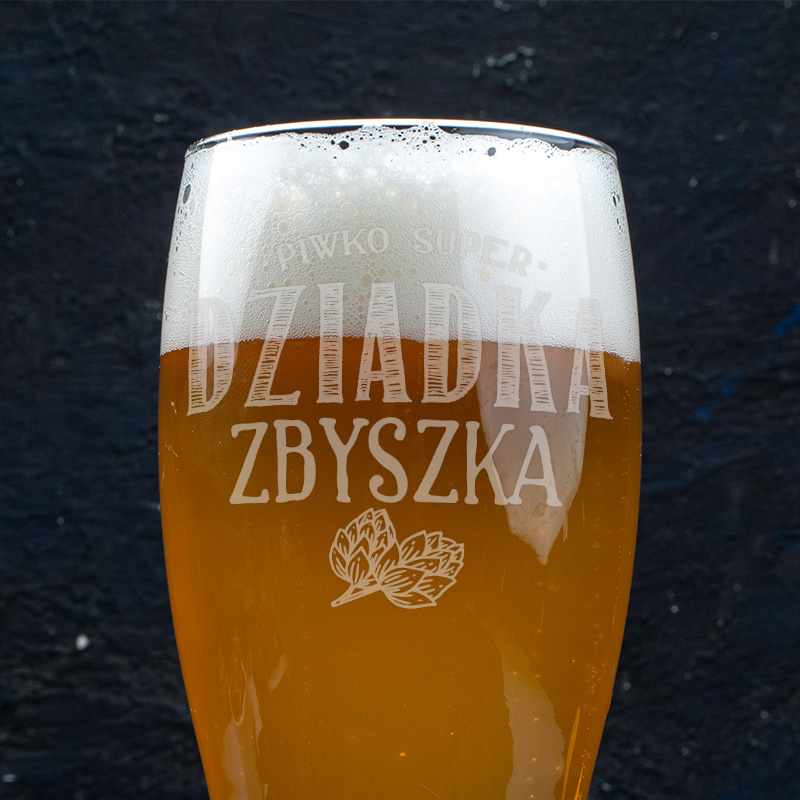Zdjęcie w galerii - SZKLANKA Do Piwa Dla Super Dziadka