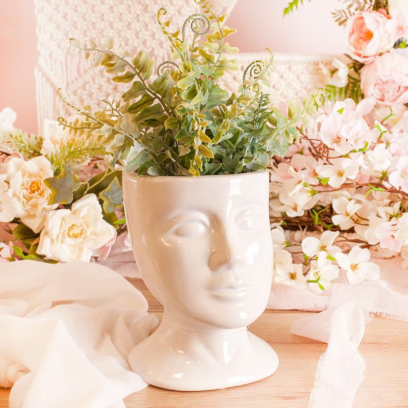 Zdjęcie w galerii - DONICZKA do Kwiatów Twarz Nietuzinkowa Dekoracja Wnętrz