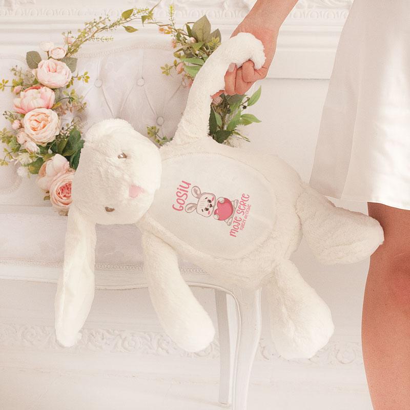 Zdjęcie w galerii - ZAJĄC Pluszowy Biały Exclusive Prezent Na Walentynki
