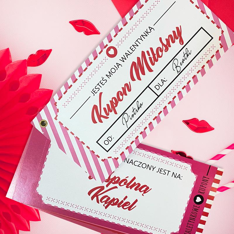 Zdjęcie w galerii - ZESTAW Kuponów Miłosnych Prezent Na Walentynki
