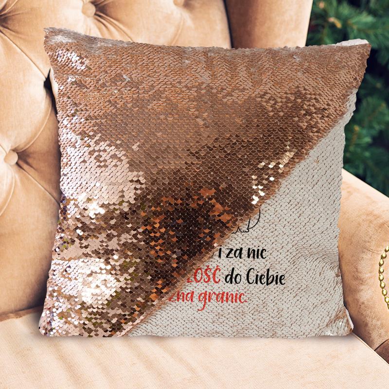 Zdjęcie w galerii - Poduszka Z Odwracanymi Cekinami Prezent Na Walentynki