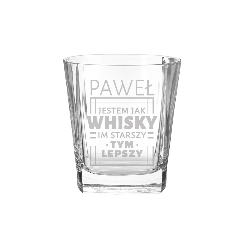 Zdjęcie w galerii - SZKLANKA do Whisky Męski Prezent na Urodziny