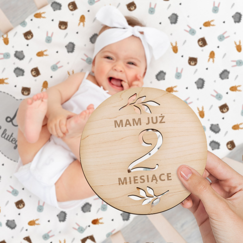 Zdjęcie w galerii - ZESTAW tabliczek Pierwszy Rok Życia Dziecka 20szt Prezent na Baby Shower