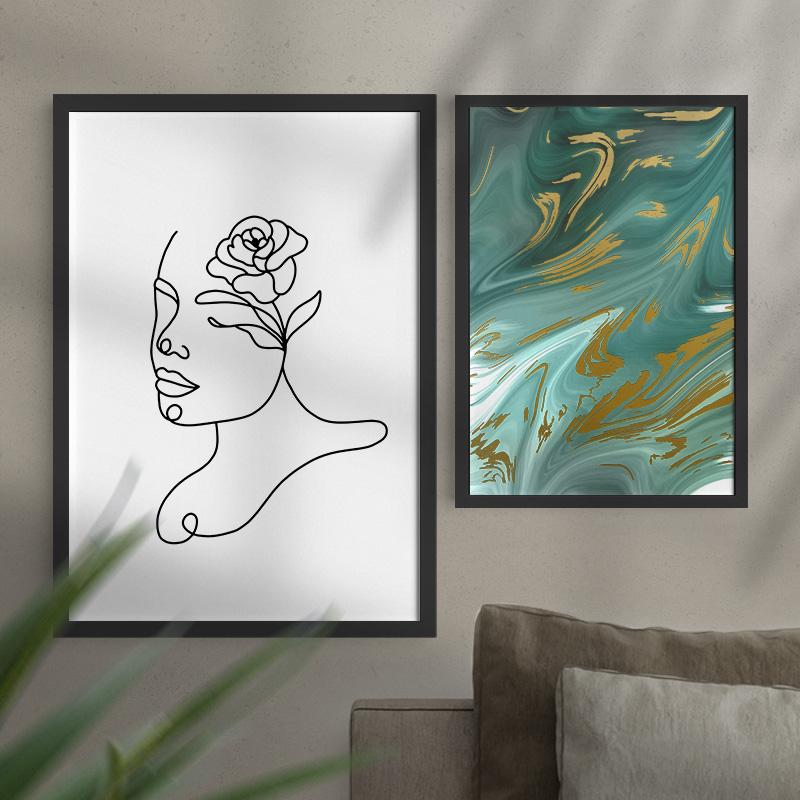 Zdjęcie w galerii - PLAKAT dekoracyjny Kwiat we Włosach Minimal Art