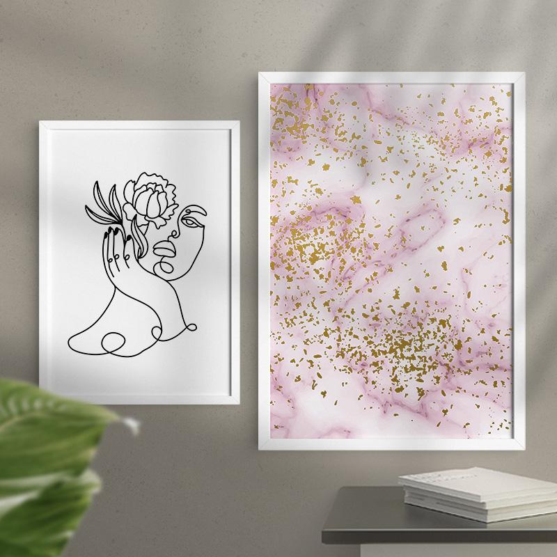 Zdjęcie w galerii - PLAKAT Minimalistyczny Z Kwiatem Dekoracja Wnętrza