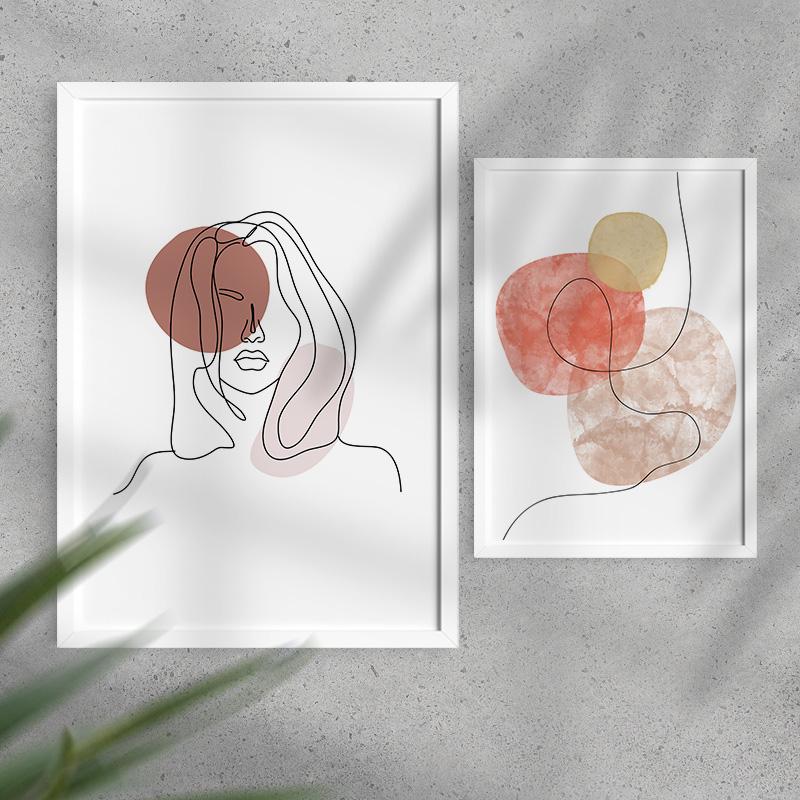 Zdjęcie w galerii - KOMPLET 2 Plakaty Pastelowa Abstrakcja Dekoracja do Mieszkania