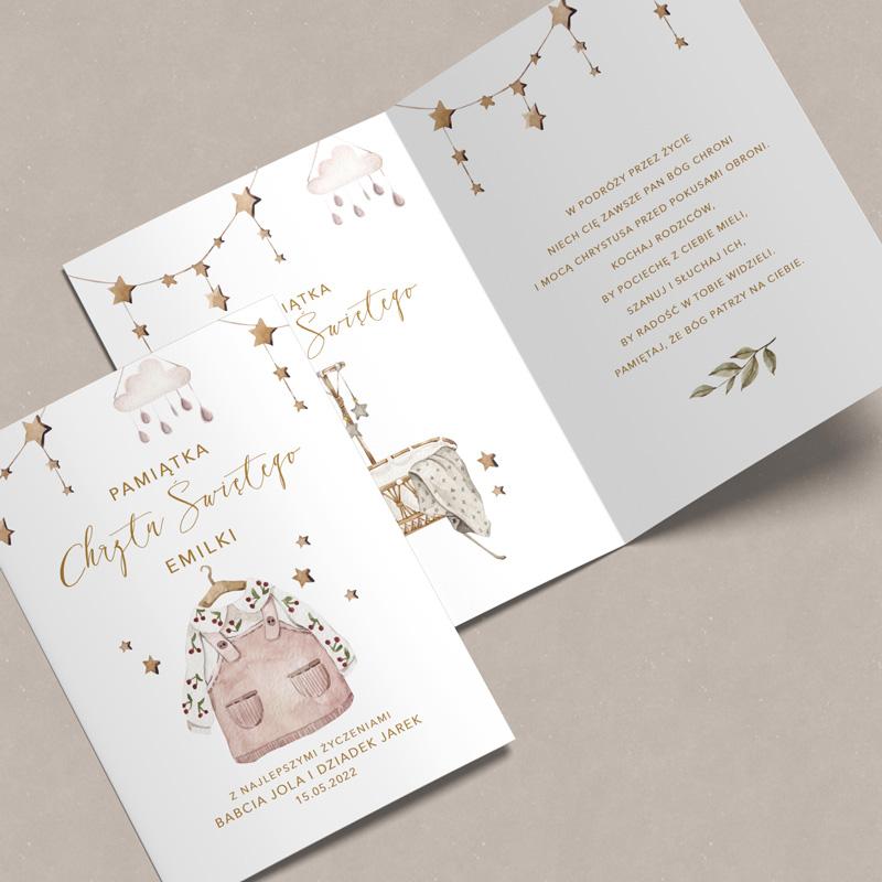 Zdjęcie w galerii - KARTKA z Życzeniami Na Chrzest Dla Dziewczynki