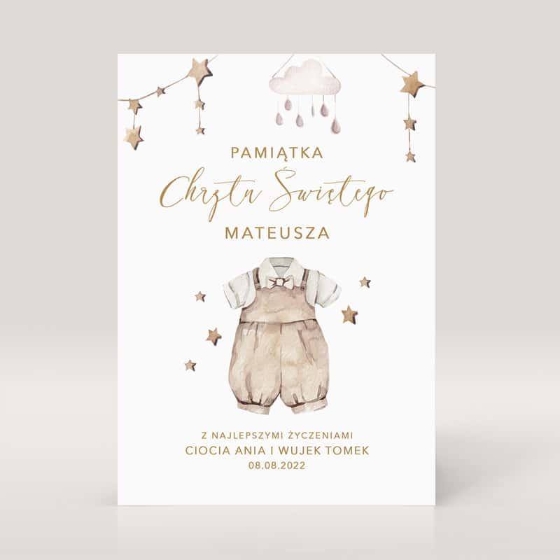 Zdjęcie w galerii - KARTKA z Życzeniami Pamiątka Chrztu Dla Chłopca