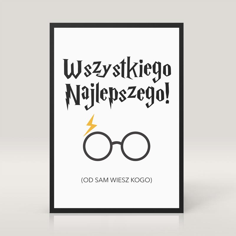 Zdjęcie w galerii - KARTKA na Urodziny Dla Fana Harry'ego Pottera (od Sam Wiesz Kogo)