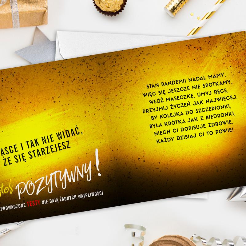 Zdjęcie w galerii - KARTKA urodzinowa Wynik Testu – Jesteś Pozytywny! +koperta
