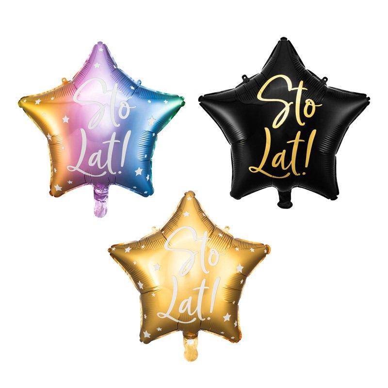 Balon urodzinowy z napisem idealnie sprawdzi się jako dekoracja na urodziny.