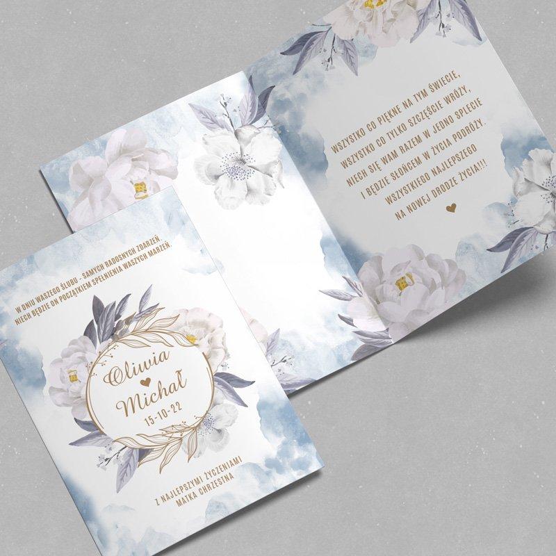 Zdjęcie w galerii - KARTKA na ślub dla Nowożeńców Coś Niebieskiego