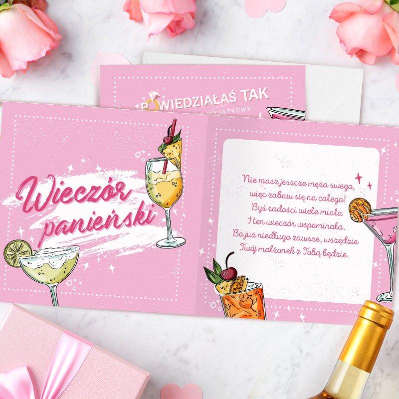 Zdjęcie w galerii - KARTKA z życzeniami na Wieczór Panieński Koktajl Party