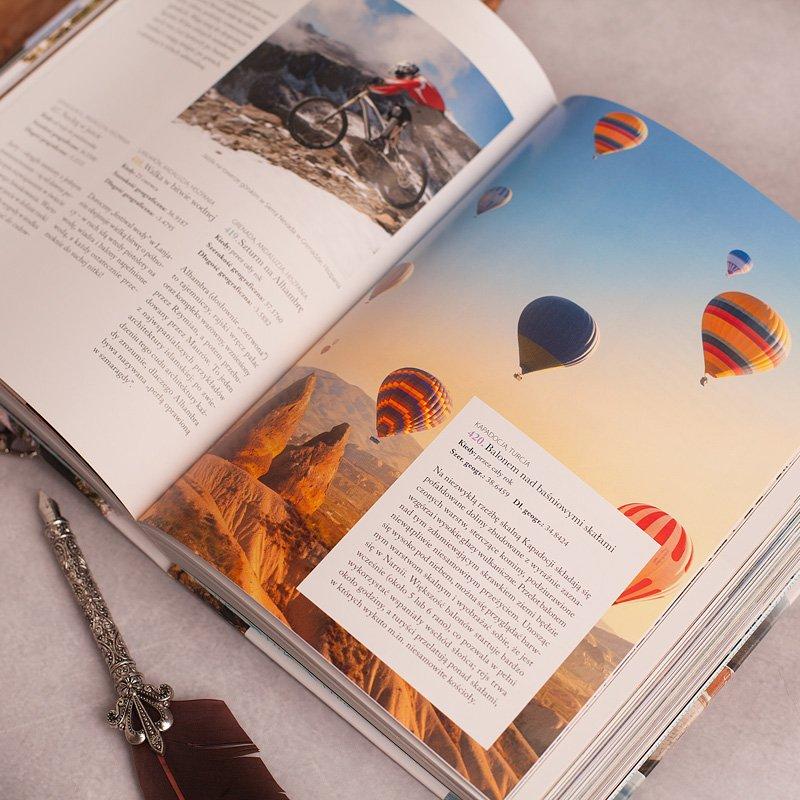 Zdjęcie w galerii - KSIĄŻKA 1000 pomysłów na przygody życia Prezent dla Podróżnika z Dedykacją