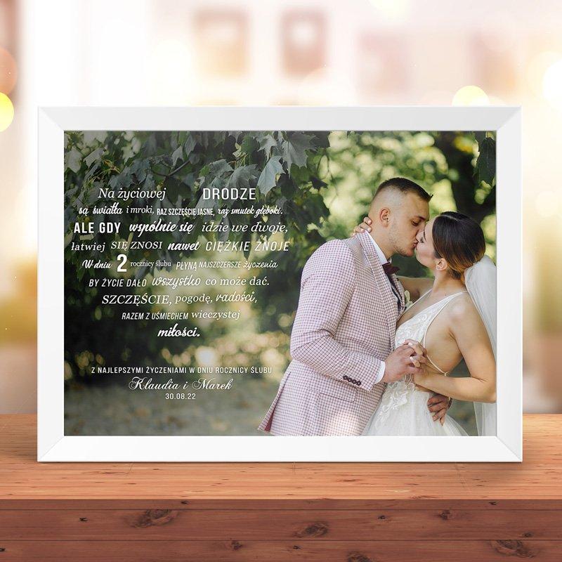 Zdjęcie w galerii - PLAKAT ze zdjęciem i życzeniami na Rocznicę Ślubu
