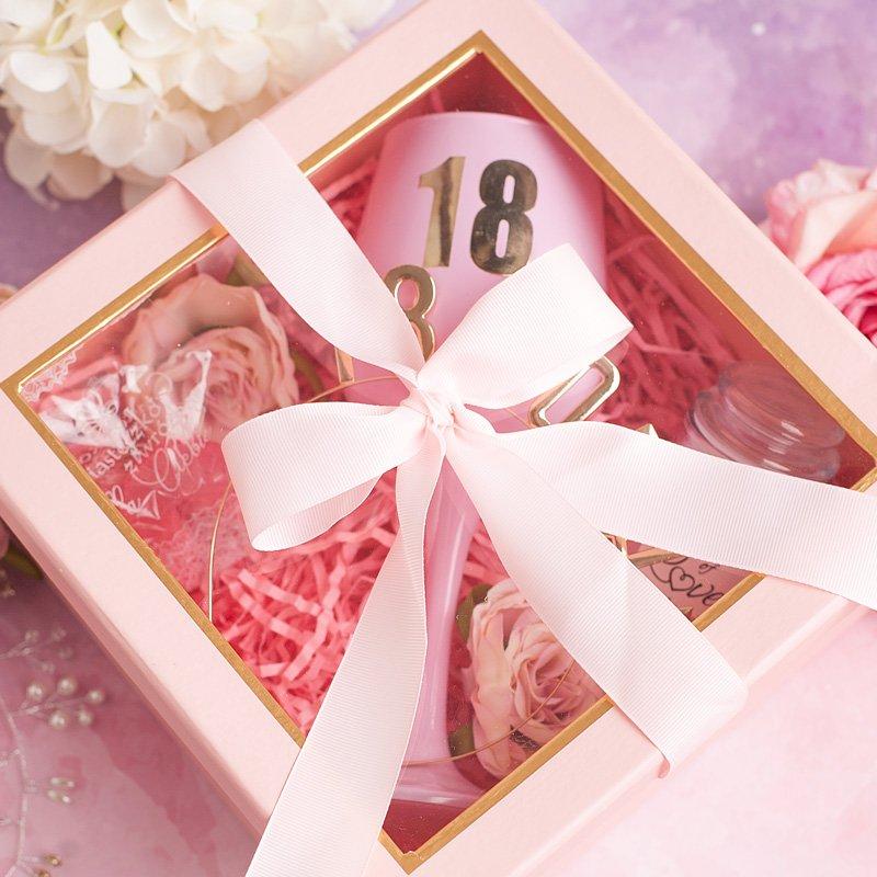 Zdjęcie w galerii - ZESTAW prezentowy na 18 dla Dziewczyny Złoto & Róż Ellegance