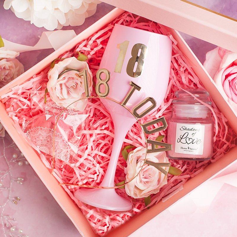 Różowy zestaw na 18 urodziny